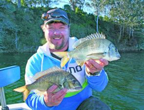 Some nice bream taken on soft plastics. Bream in the upper reaches will be more prevalent this month.