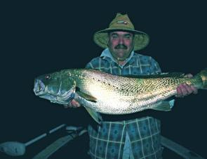 A 10kg jewie taken after dark on fresh squid in Wagonga Inlet. There have been good fish taken during the day, too.