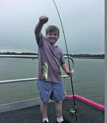 Young angler Levi Tyter with a decent bream from Lake Tyres.