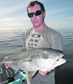 Daniel plucked this kingfish from the surface whilst casting poppers towards the horizon.