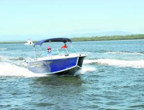 The Quintrex 530 Cruiseabout in action: a right-sized family or fishing boat with a lot going for it.