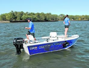 The new Hornet Trophy 420 combines stability and fishing room in an attractive package.