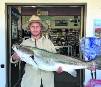Josh Lane caught this 15kg mulloway after the big flush that came down in June.