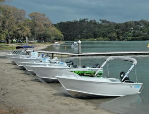 The Procraft lineup, displayed at Burleigh recently.