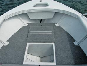 Ample under floor storage space is a feature of the 4.7's front casting deck.