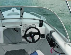 The Procraft 4.7 Runabout's dash set up allowed for easy monitoring of instruments, with room for more to be fitted.