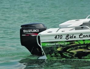 The mid range powered Suzuki 50 four stroke was ample power for both Procraft 4.7 metre rigs.