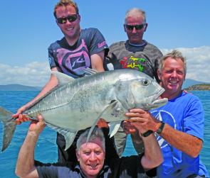 In terms of power, it's hard to beat the giant trevally. This 25kg+ GT took about 6 minutes to land with four sharing the rod!