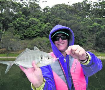There are plenty of trevally on offer at the lake.