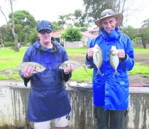 Andrew and Rob Humphreys know the importance of changing techniques during foul weather.