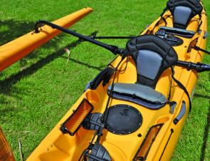 Hobie kayaks provide first class seating. They combine an extremely well-padded seat pad with a self-inflating lumbar support backrest.