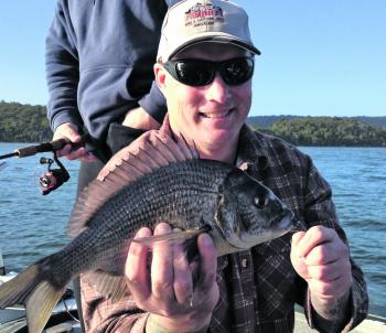 The cold water has seen the black bream fire up.