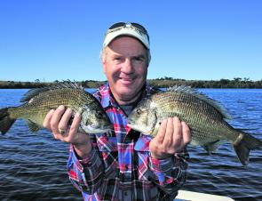 Clear, cool winter days means solid black bream on the flats. l can't wait for it!