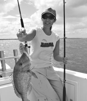 Jane from Sydney caught this great sweetlip on a Fishing Offshore Noosa trip.