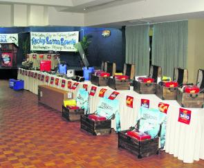 The impressive 2012 Carlton Mid Rocky Barra Bounty prize table.