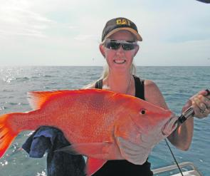 Sammy Weise with a solid Yeppoon red emperor.