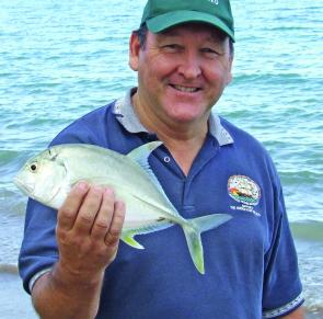 Macca was pleased with the trevally from Facing Island.