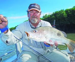 Local guide Arthur Lavern catches fish like this almost daily. What a job!