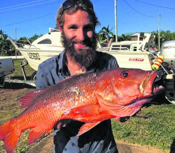 The spearos have been doing really well over the reefs, and Justin speared this 73cm jack.