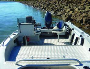 There is ample fishing room in this craft for offshore, estuary or impoundment use.