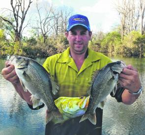 Quality bass have been whacking lures in Cania Dam's upper reaches.