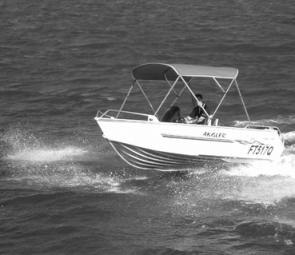 The 60hp Evinrude E-Tec got the Mako Craft 440 Angler up on top with ease.