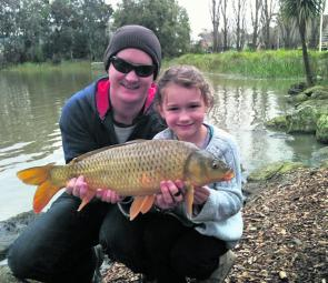Ringwood Lake is a great place to tangle with a carp or three and while your there, the kids can have a play on the playground!