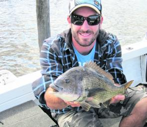 Mace Boyer with a lovely Patterson Lakes bream.