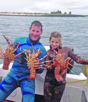 Craig and Bree Fox with some great Port Fairy crays.
