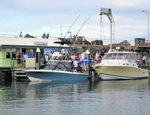 A busy weigh station at the Solitary Islands Game Fishing Club's second Heavy Tackle Challenge.