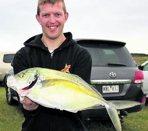 Nathan Watson with a 1.8 kg trevally speared in the far Southwest.