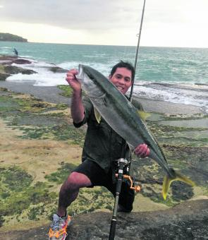 Tony Mendoza was happy with this 10kg kingfish.