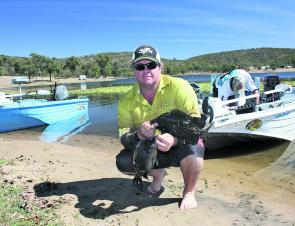 Winner Shane Snell concentrated on edges on the eastern side of the dam with his Jackal TN50 on a 3-7 second drop and a slow retrieve.