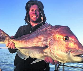 Mick Brittain and Mark Sullivan took this lovely red while fishing of Mt Martha.