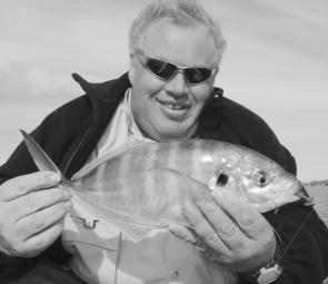 Ian Rickard caught this silver trevally on a soft plastic.