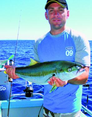 What spring is all about – pleasant days with blue skies and kingfish to be caught.