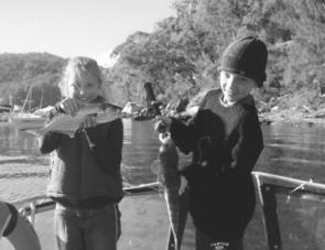 Sam and Jenny Holman show it's easy to catch fish on soft plastics.