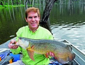 The author with a big fat Borumba dam saratoga.