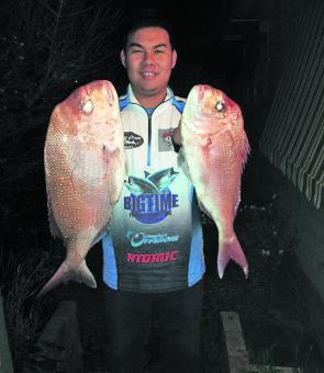 A sample of the quality of snapper being caught in Western Port.