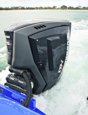 The Evinrude GEN 2 performed flawlessly with plenty of torque at the ready for the big sets of waves that we encountered.