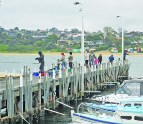 Repair works are set to continue on the Mornington Pier for some time, but the accessible areas are still very popular with anglers chasing squid, garfish and salmon.
