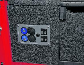 A power distribution panel is a handy adjunct to this drawer system.