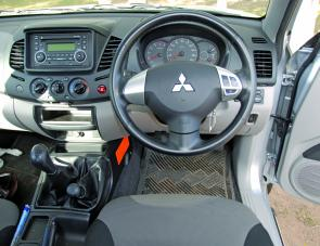 A revised dash layout is a pleasing feature of the MN Triton ute.