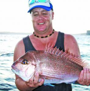 Narrabeen local Steve Winser caught this great snapper from the rocks.