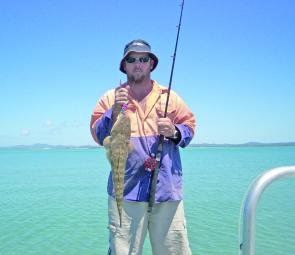 Fabian Sutton caught this flatty on a lure at Corio Bay.