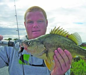 Adam Bovel with a yellowbelly from Kialla Lakes.