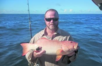 The author with a tasty coral trout.