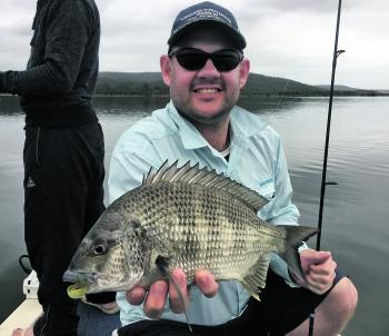 Pete Steward with the type of bream that Pambula has been producing.