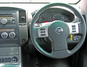 A look at the Navara's dash layout reveals a rotary dial that activates the four wheel drive system.