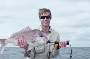 Patrick Sloan with a typical winter snapper from Lennox Head.